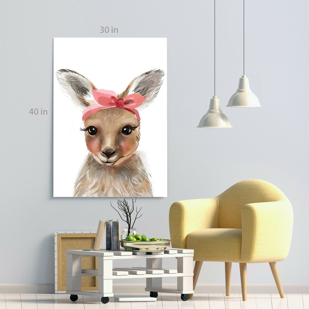 Kids Pretty Bunny Rabbit Canvas Wall Art Picture Print