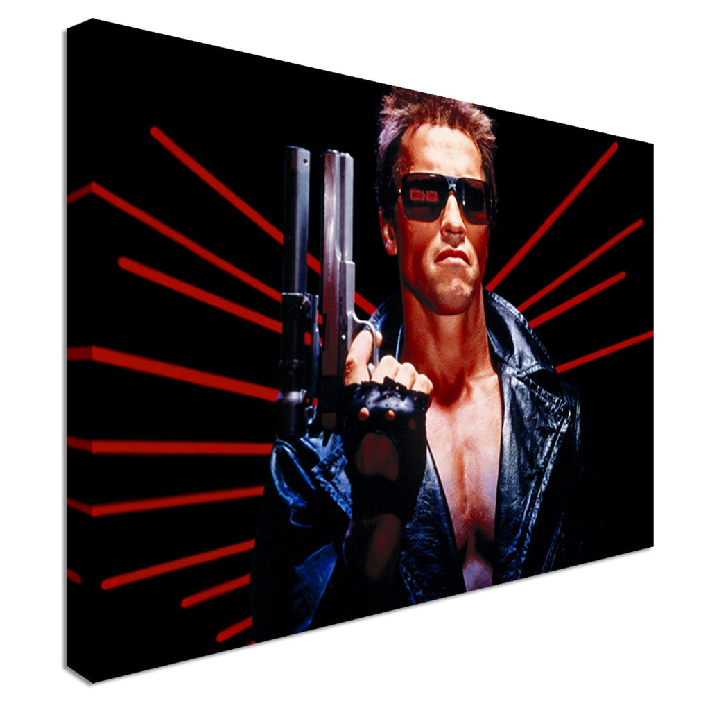 Arnold Shwarzenegger Terminator Canvas Wall Art Picture Print