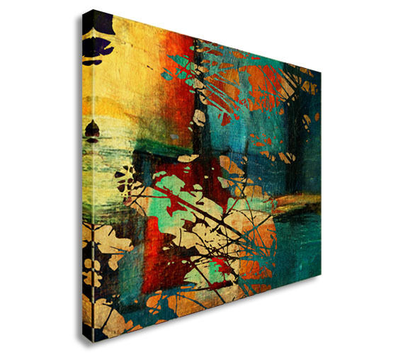 Abstract Multi colour Oil paint reproduction Canvas Wall Art Picture Print