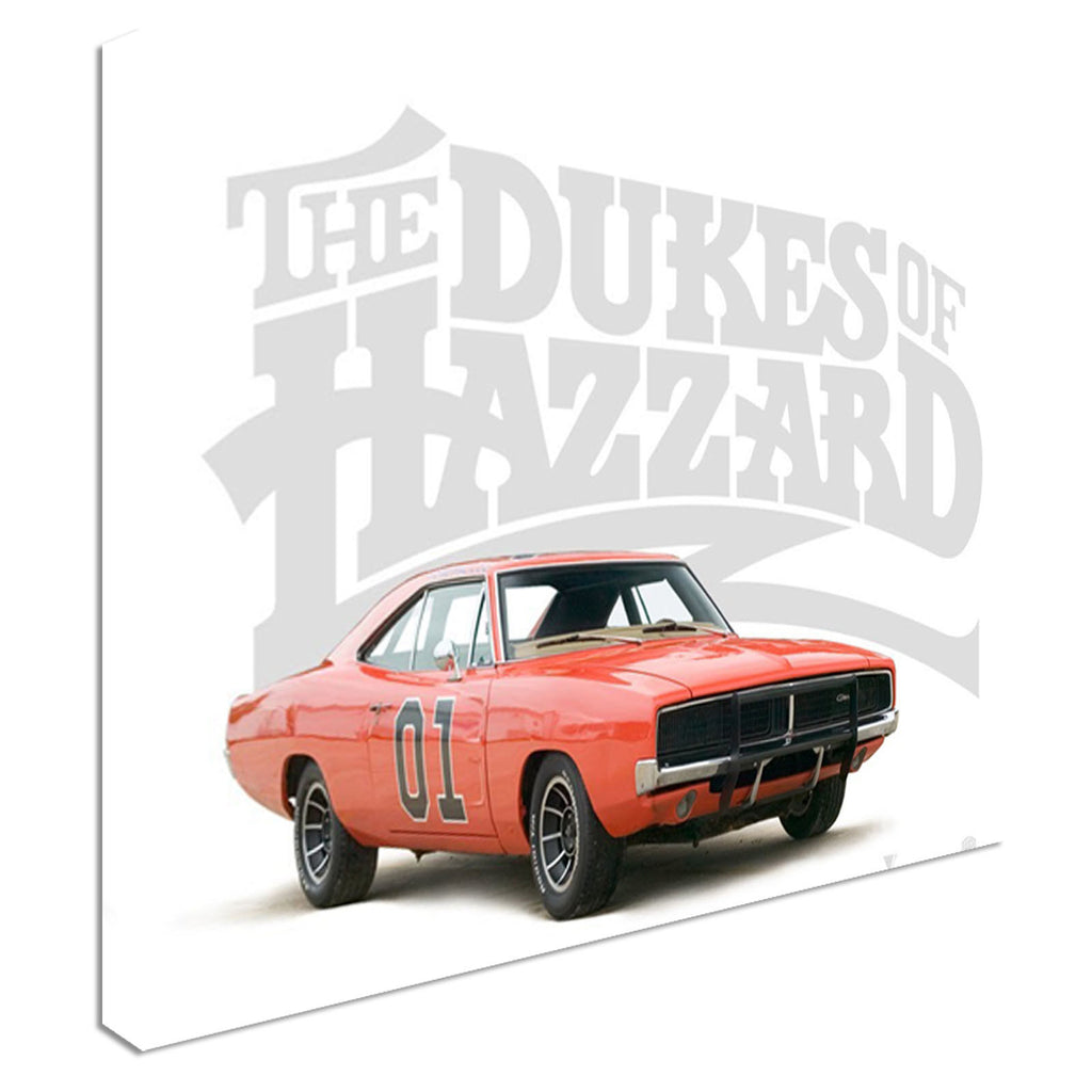 General Lee iconic car movie Canvas Wall Art Picture Print