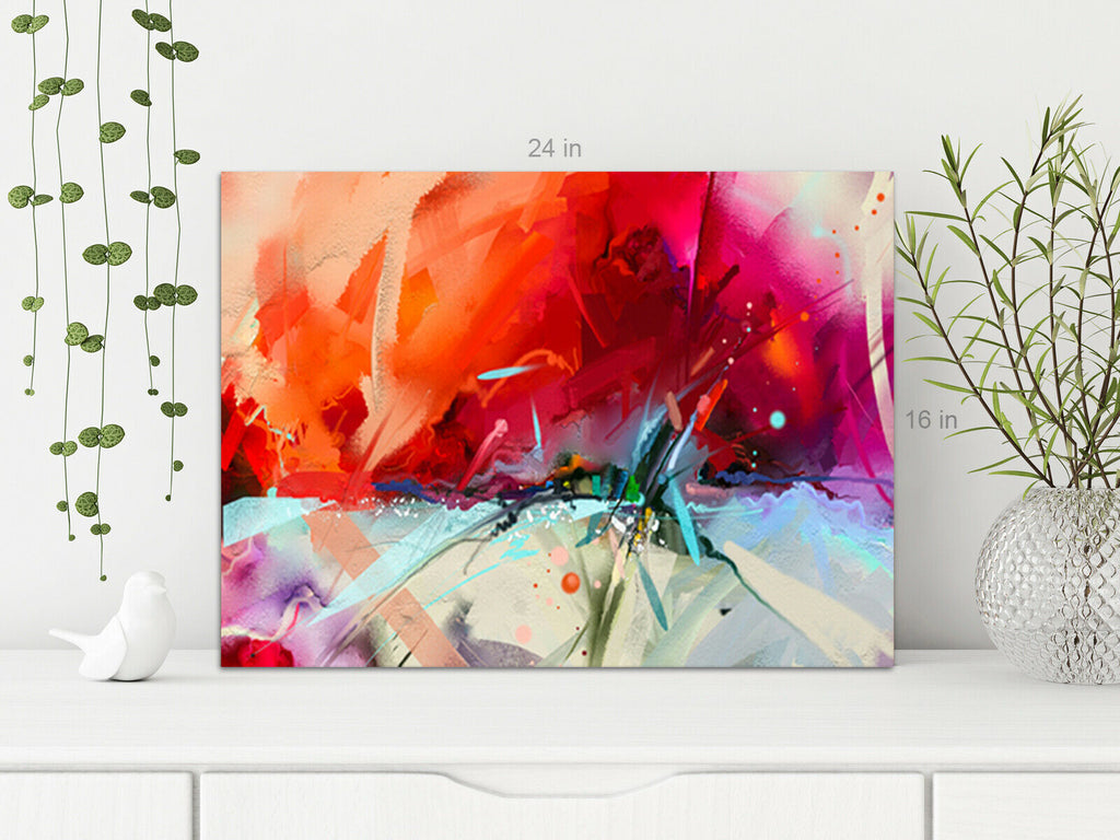 Modern Abstract Fright Canvas Wall Art Picture Print