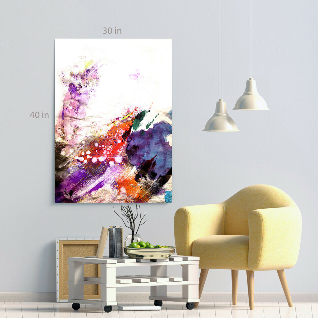 Modern waves abstract Canvas Wall Art Picture Print