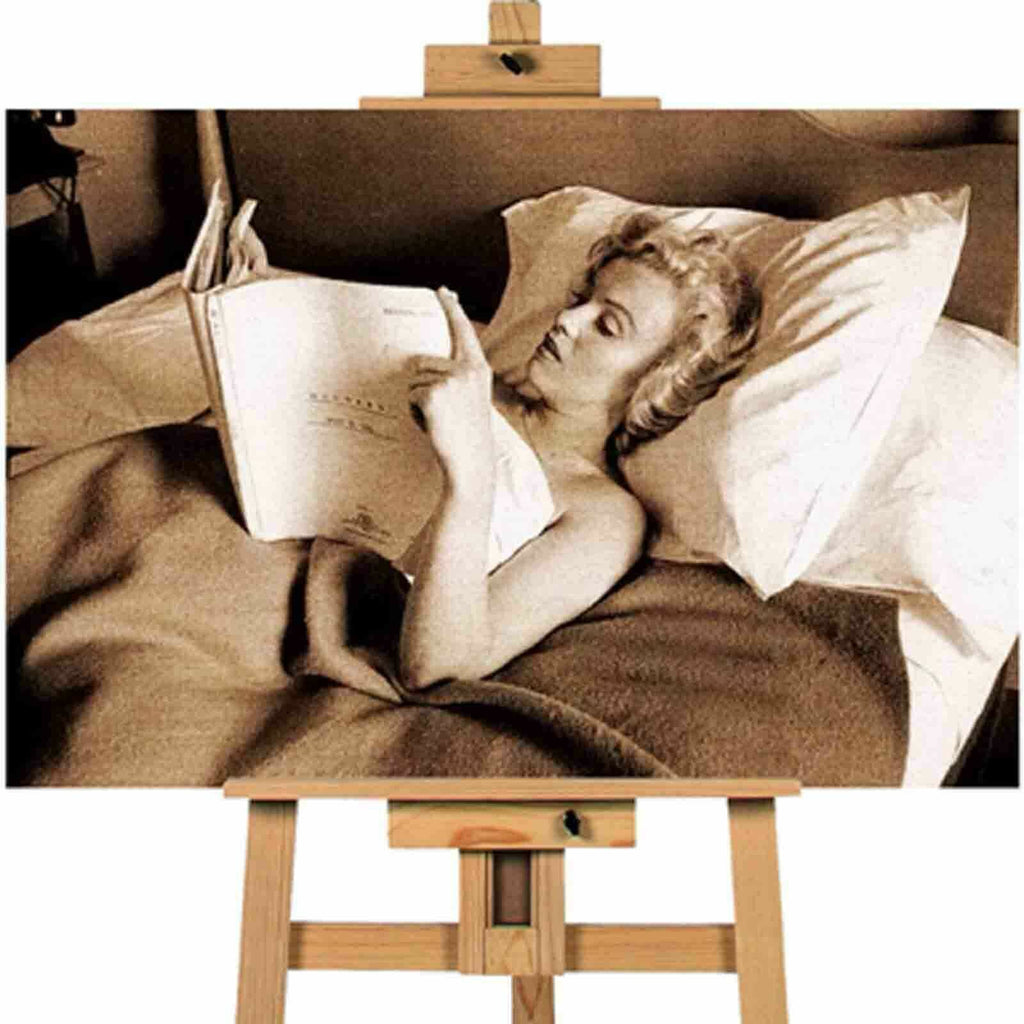 Marilyn Monroe Reading Book landscape canvas wall art print