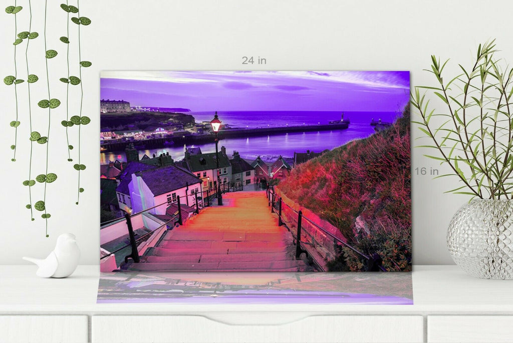 The 221 steps in Whitby Wall art Canvas Wall Art Picture Print