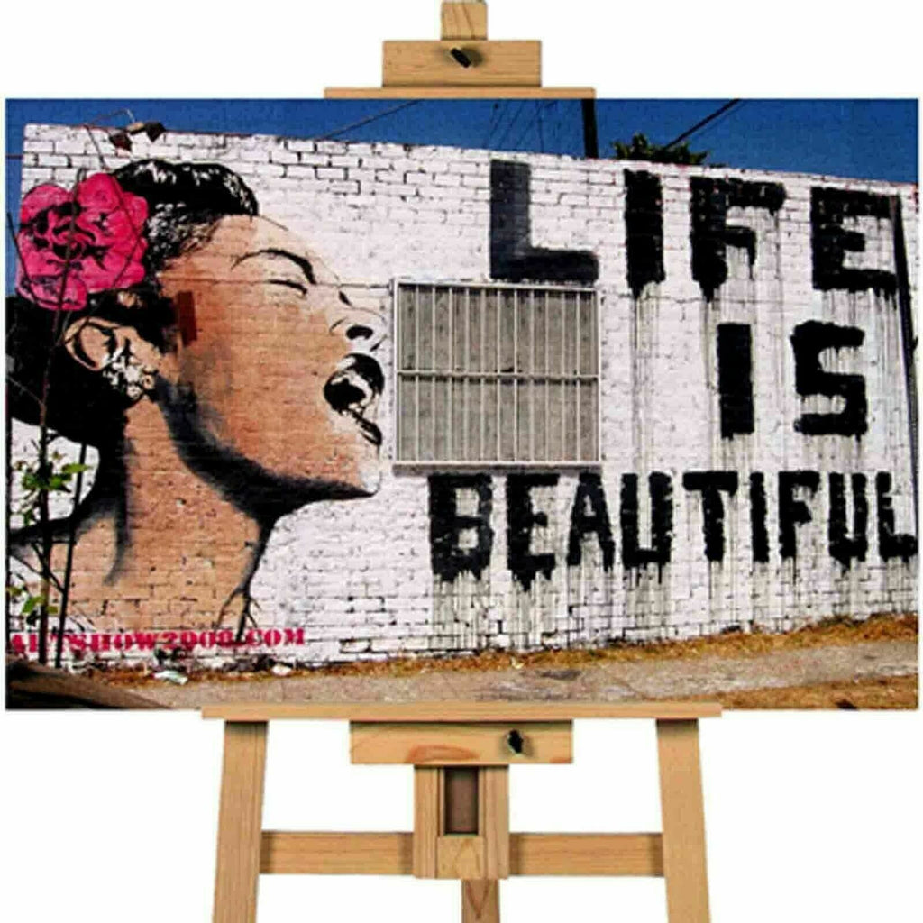 Banksy life Is Beautiful Canvas Print Wall Art