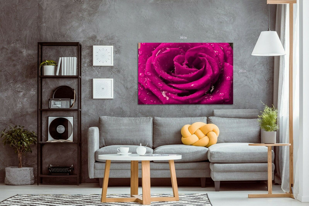 Ruby pink Scarlet Canvas Wall Art Picture Print