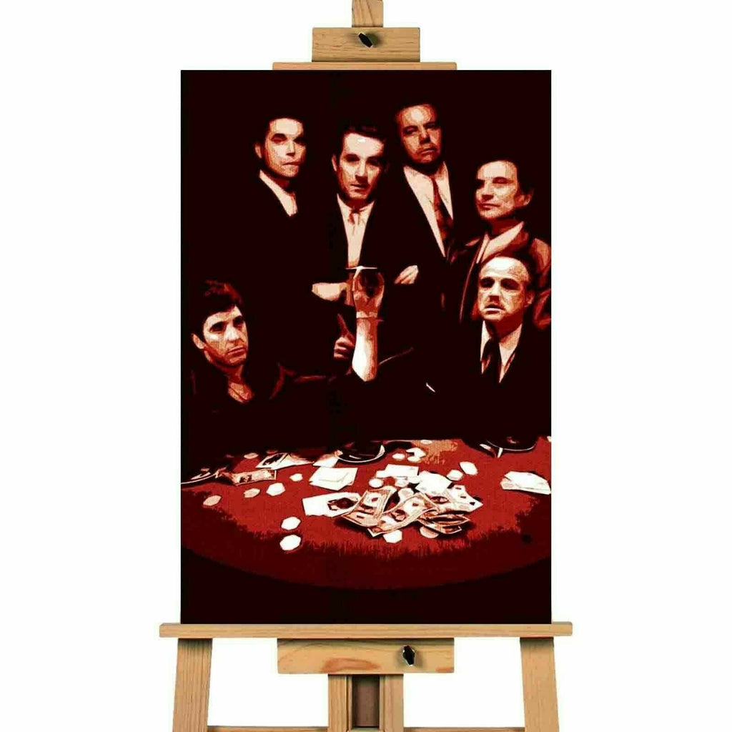 Goodfellas, Godfather, Scarface Gang Picture Canvas Art Wall Print