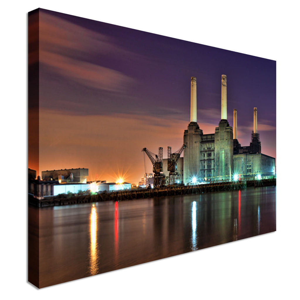 Battersea Powerstation - Cityscape Canvas Wall Art Picture Print