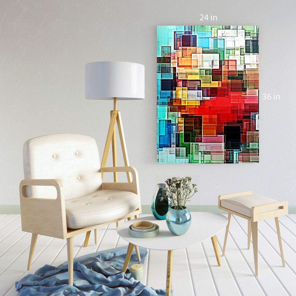 Modern Colour Abstract Canvas Wall Art Picture Print