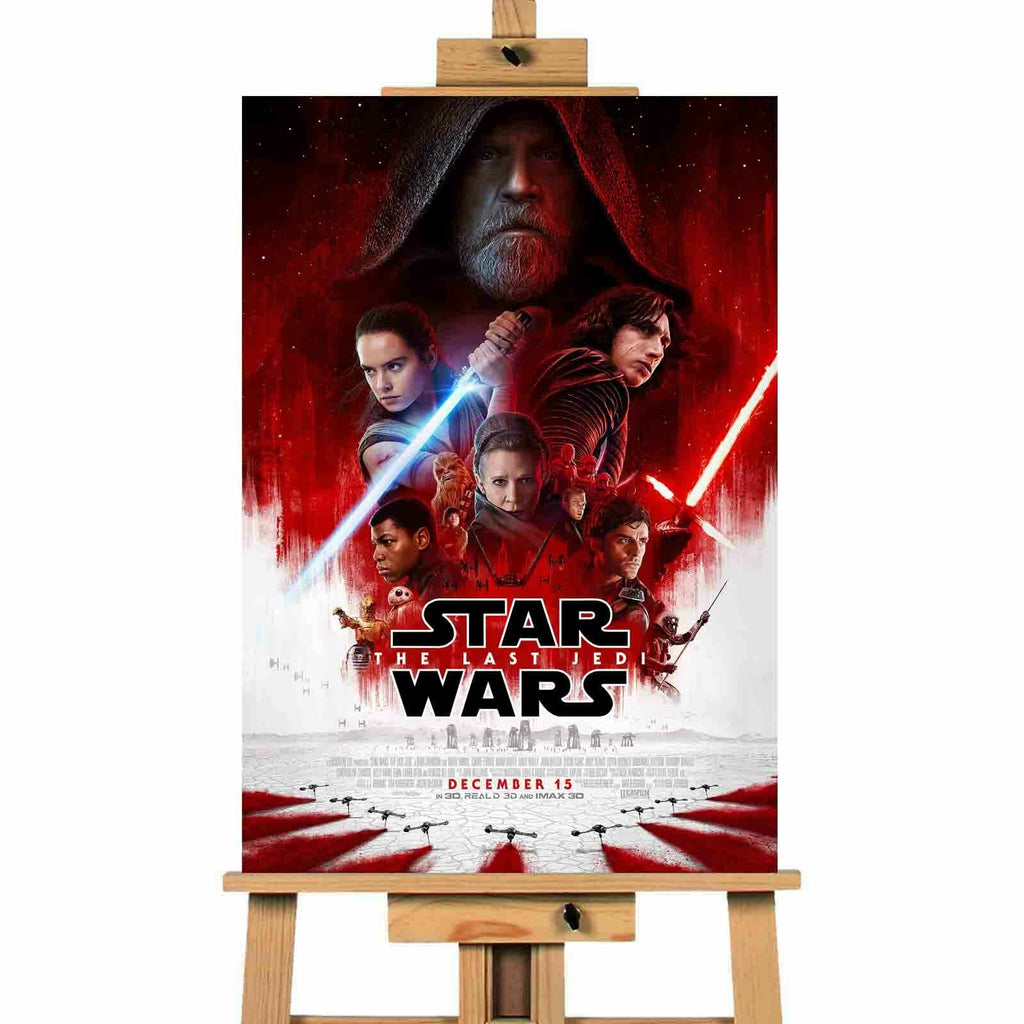 Star Wars The Last Jedi Canvas Print Wall Art