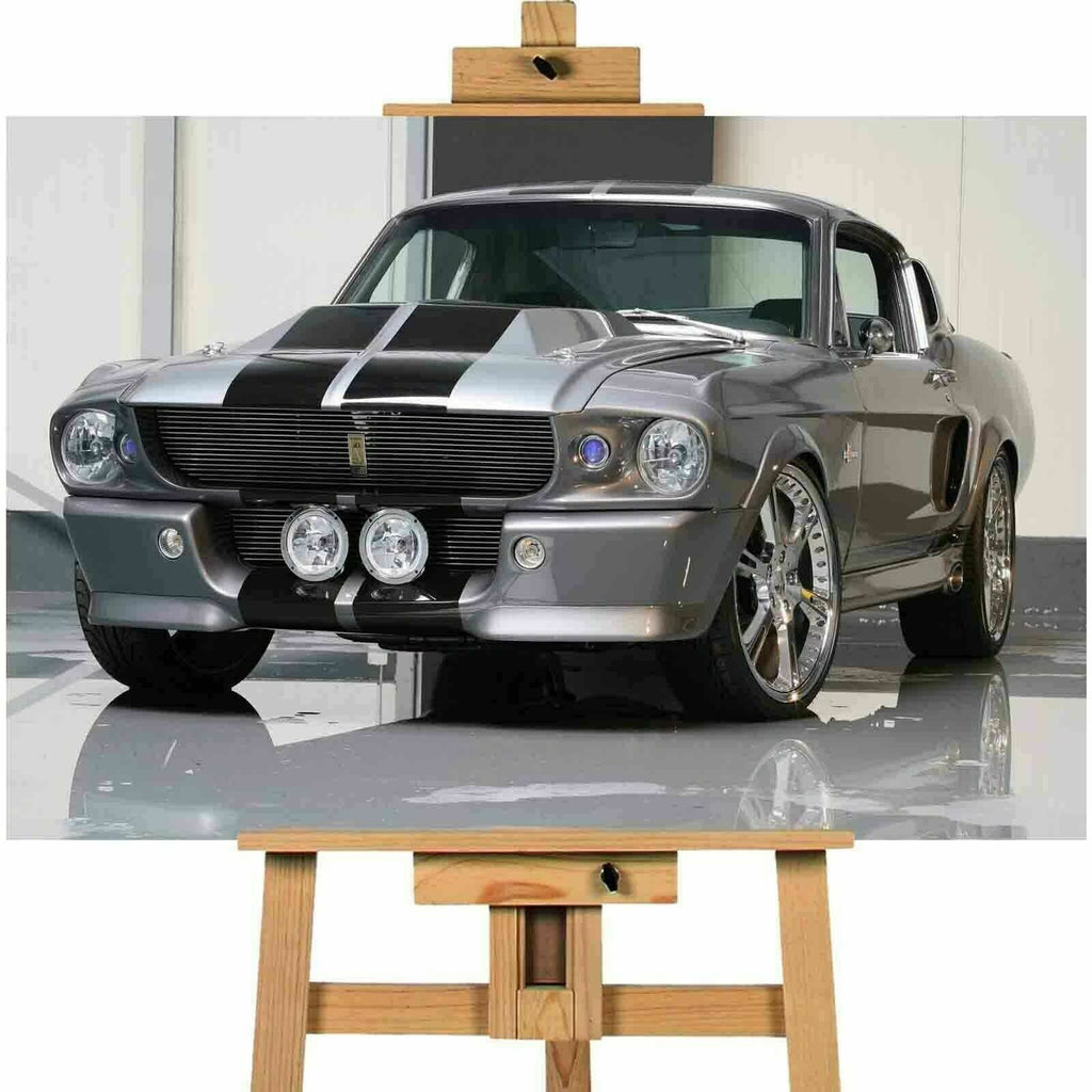 Cars 1968 Ford Mustang Shelby Canvas Print Wall art
