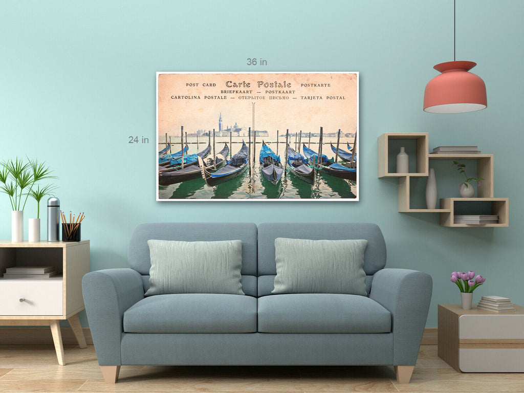 Vintage Boats Canvas Wall Art Picture Print