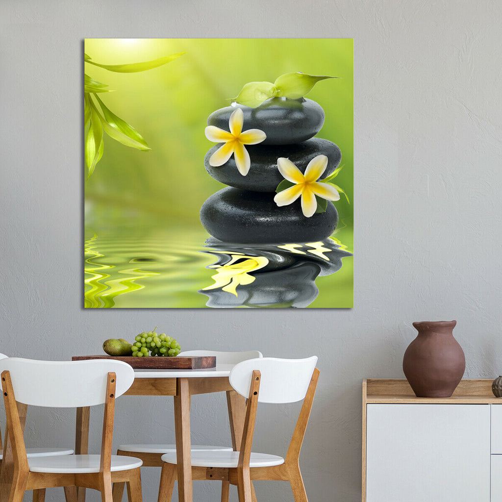 Spa still life, with white flowers Canvas Wall Art Picture Print