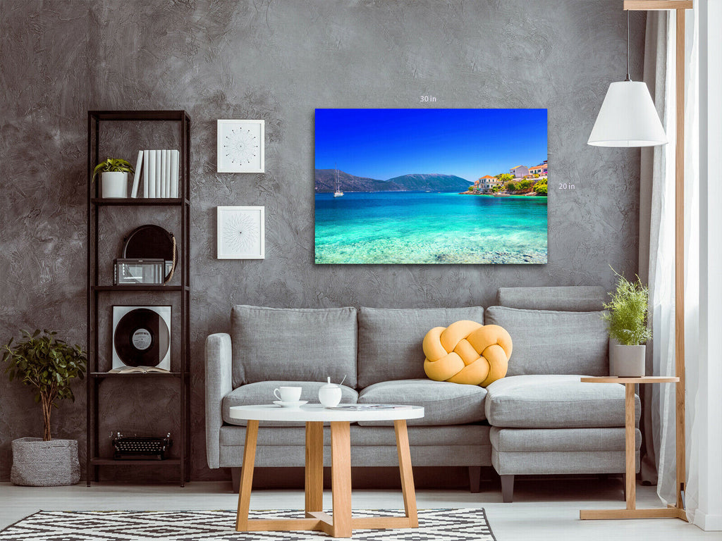 Blue Seas Canvas Wall Art Picture Print