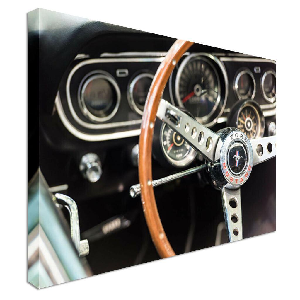 2166 Ford Mustang Wall Canvas Wall Art Picture Print