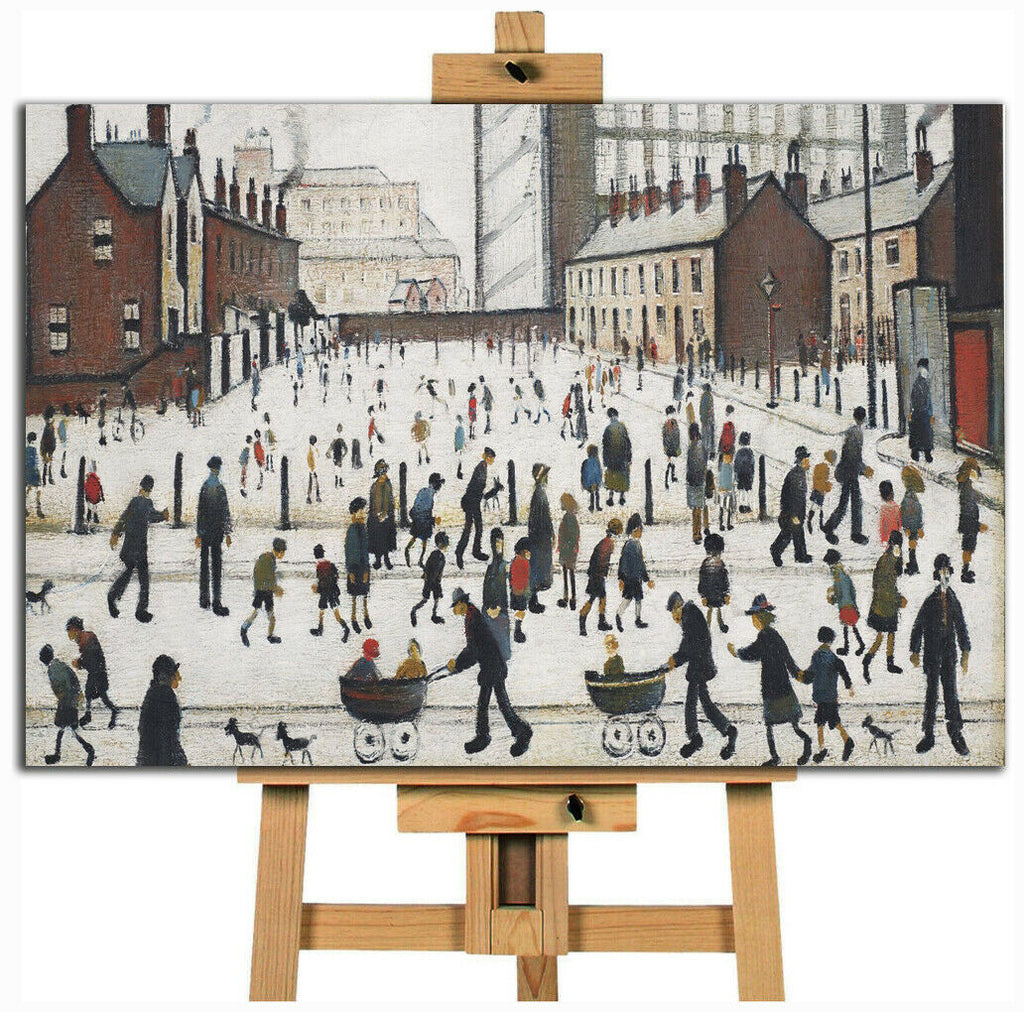 L.S. Lowry  Lowry The Mill In Pendelbury Canvas Wall Art Picture Print
