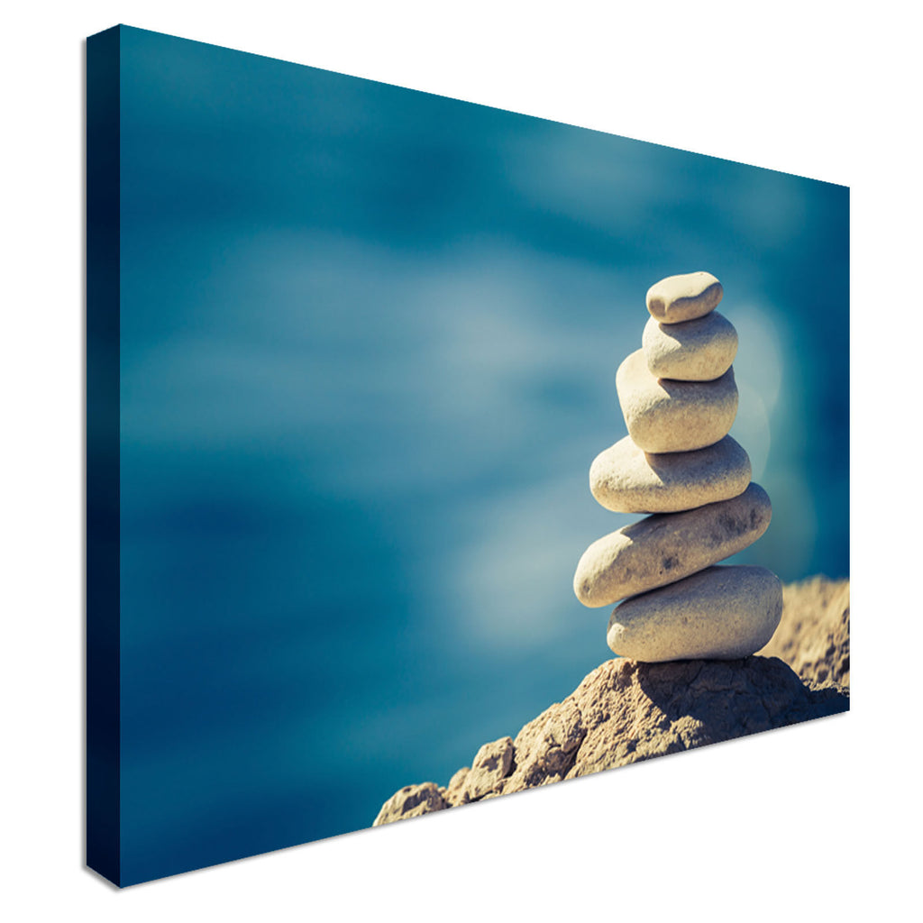 Zen-Like Tranquil Pebbles Canvas Wall Art Picture Print