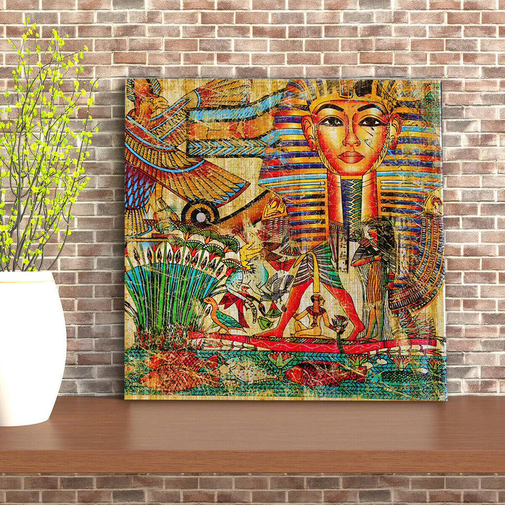 vintage Egyptian artwork Canvas Wall Art Picture Print