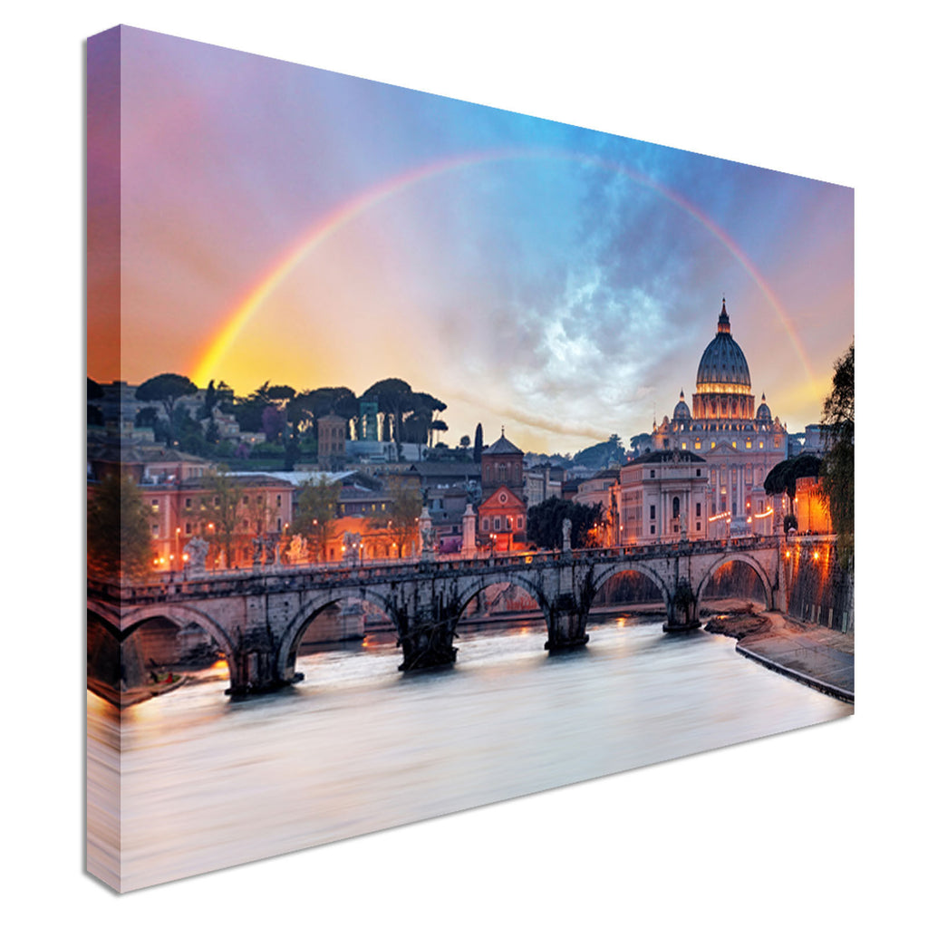 St. Peters Basilica Rome Canvas Wall Art Picture Print