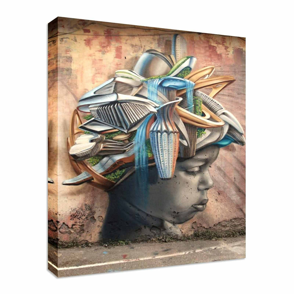 Street Art African New Abstract Canvas Wall Art Picture Print