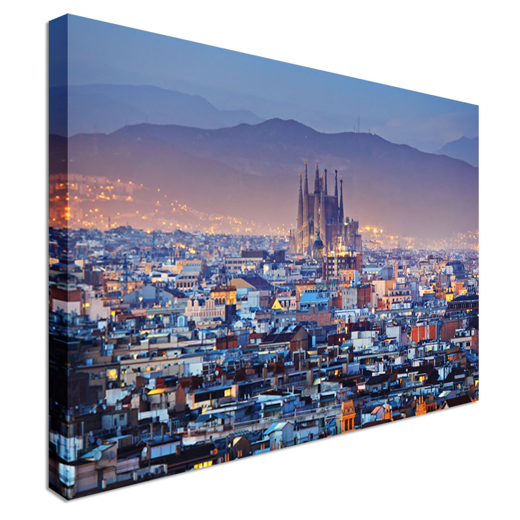 Barcelona Cathedral City Centre  Canvas Wall Art Picture Print