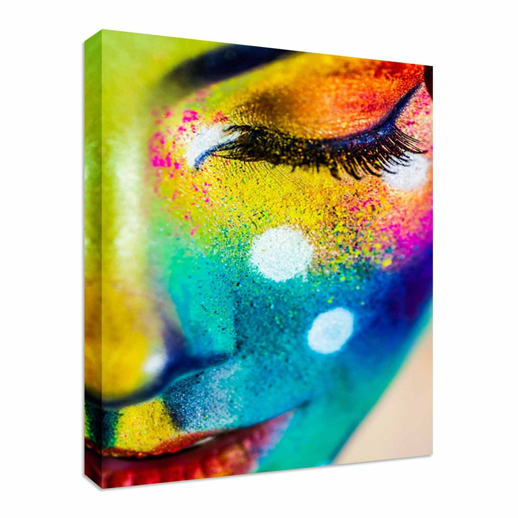 Beautiful fashion woman color face Canvas Wall Art Picture Print