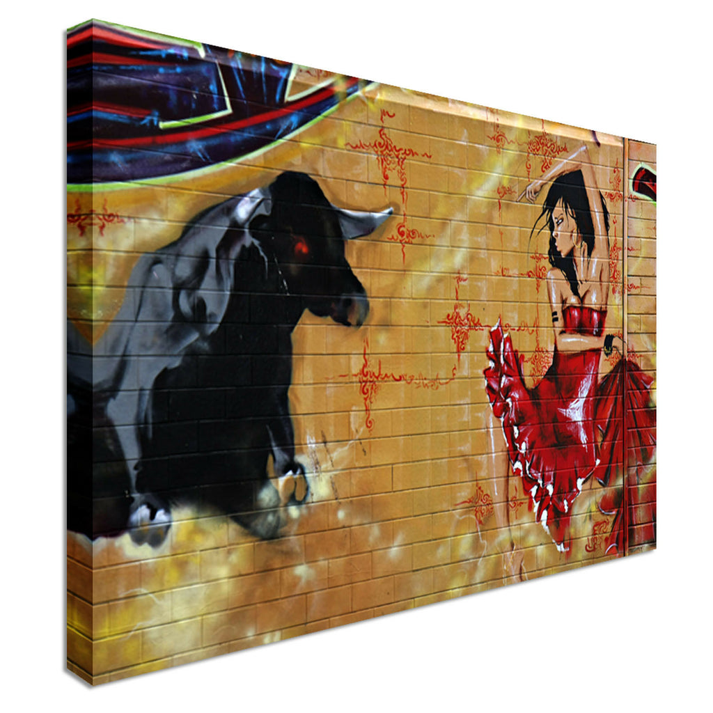Spanish Lady Canvas Wall Art Picture Print