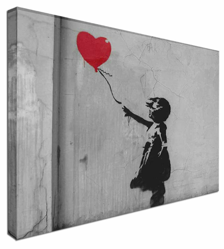 Banksy Balloon Girl -  NEW BANKSY Canvas Wall Art Picture Print