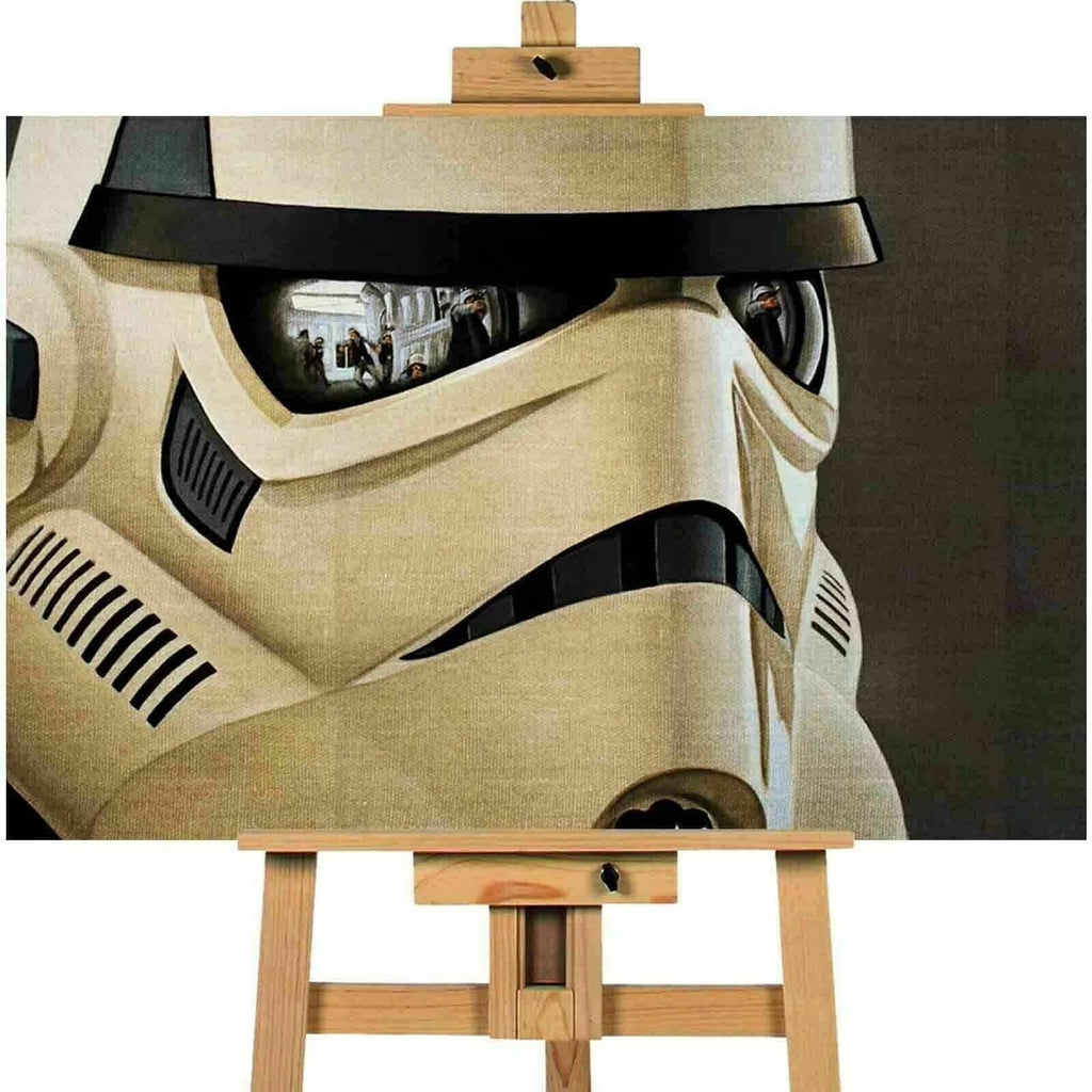 Storm Trooper Helmet Star Wars Canvas Print Wall Art Poster