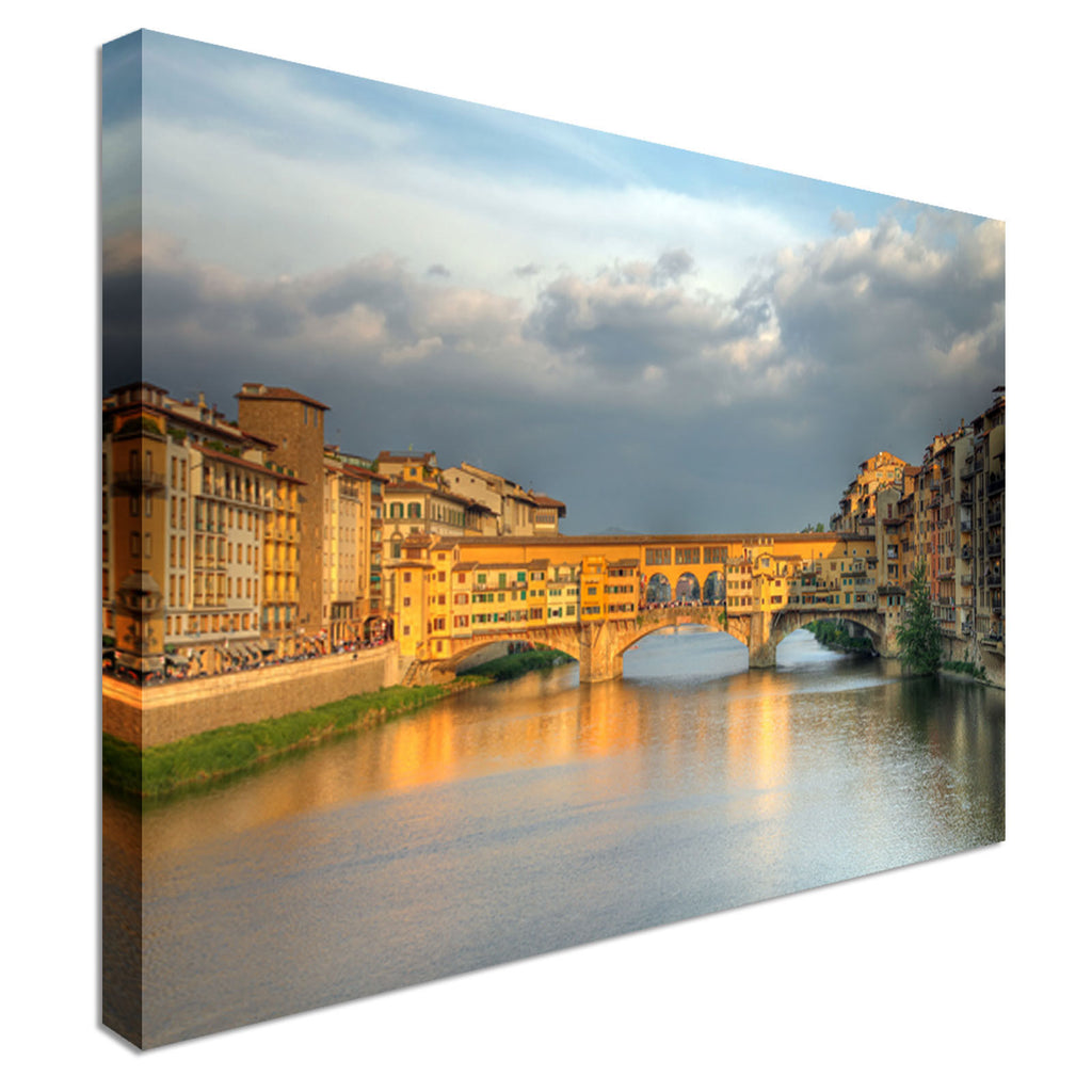 Ponte Vecchio, Florence, Italy Canvas Wall Art Picture Print
