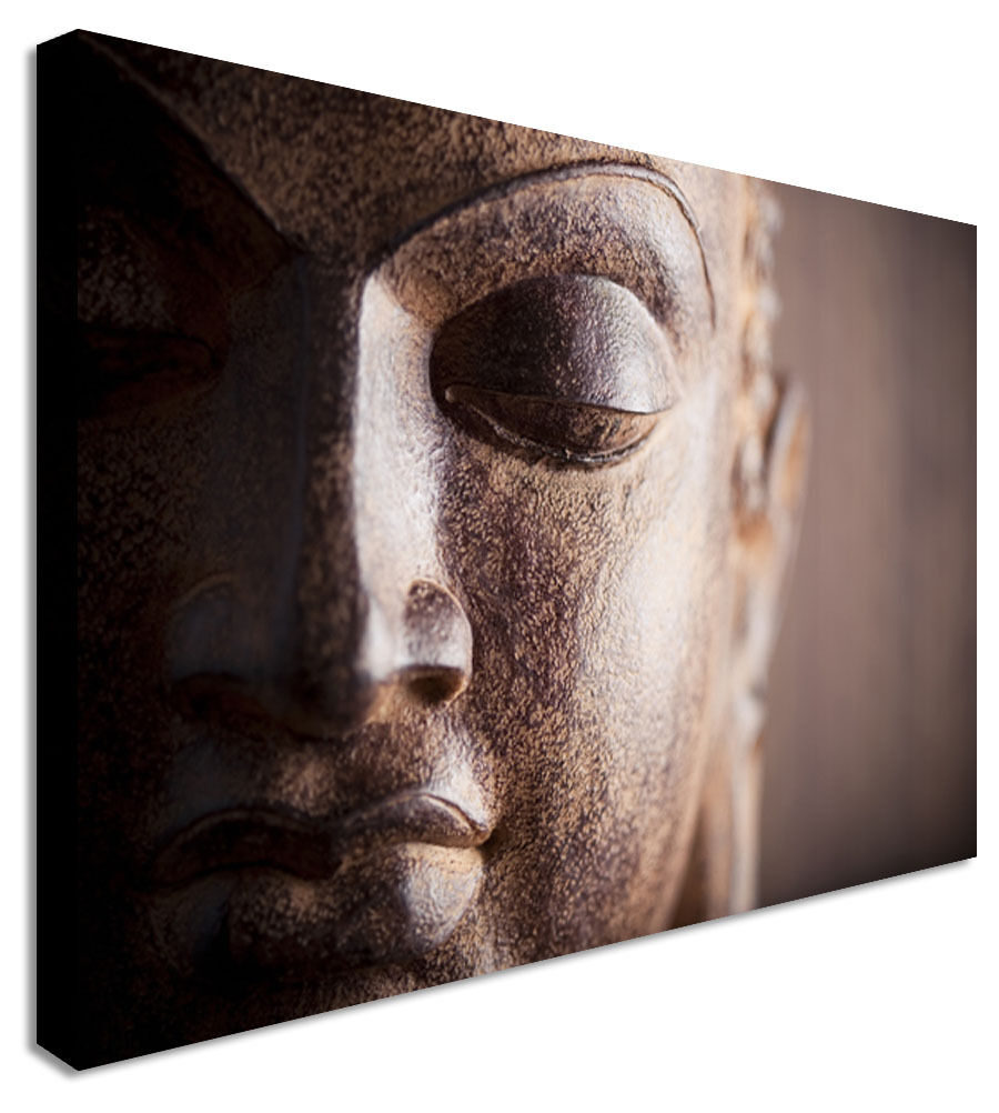 Abstract Buddha Canvas Wall Art Picture Print