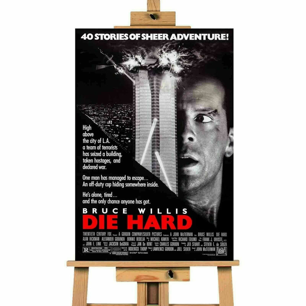 Die Hard Bruce Willis Movie Canvas Print Wall Art