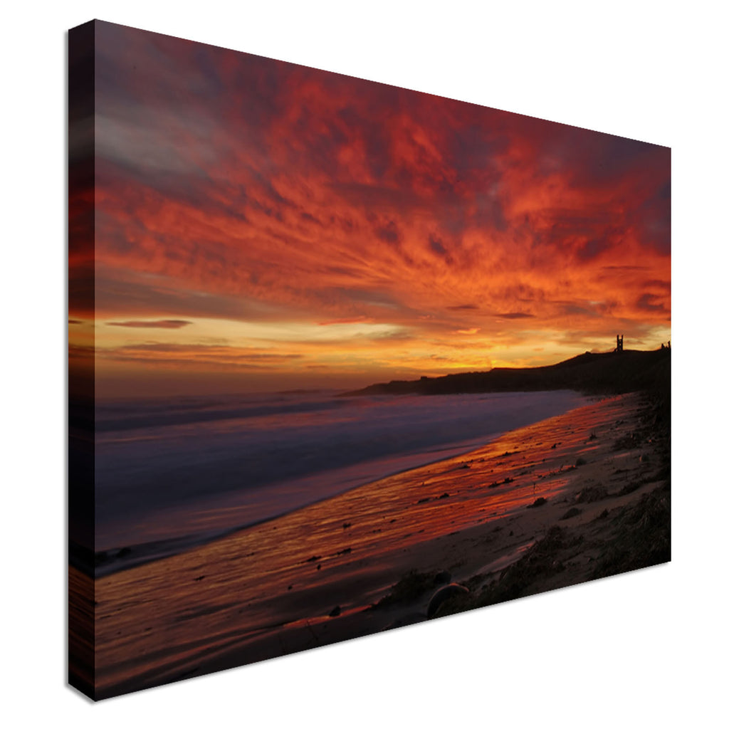 Dunstanburgh Castle at Dawn Canvas Wall Art Picture Print