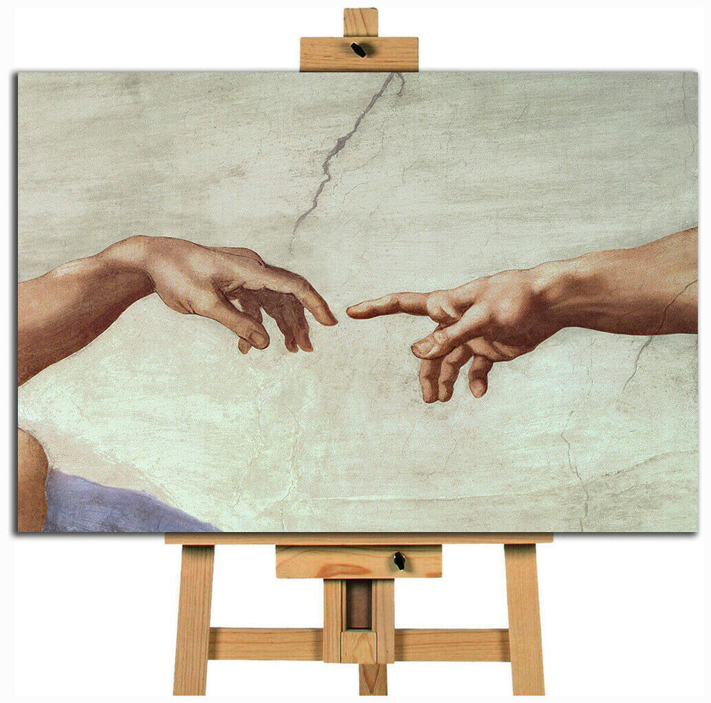 Michelangelo hand of god Canvas Wall Art Picture Print