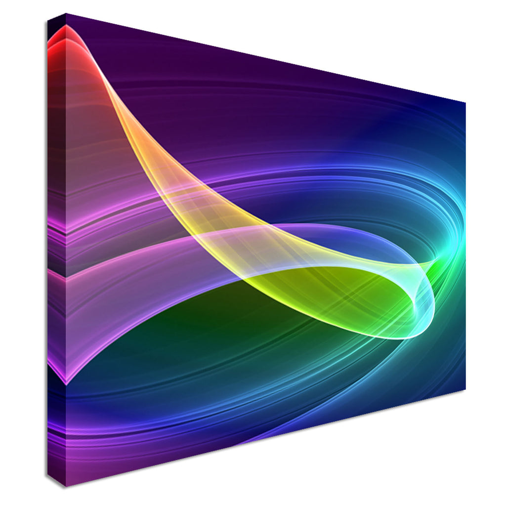 Multicolored Abstract Swirls Canvas Wall Art Picture Print
