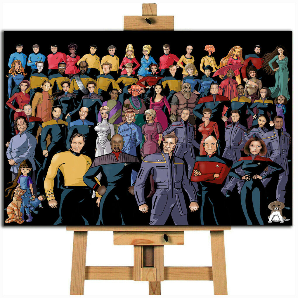 Star Trek crew canvas wall art print