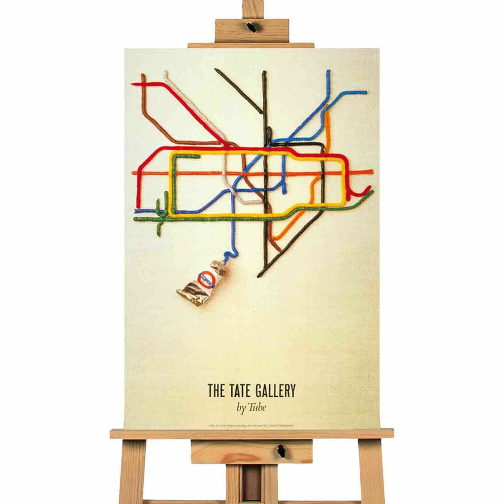 London Tube Tate canvas wall art print