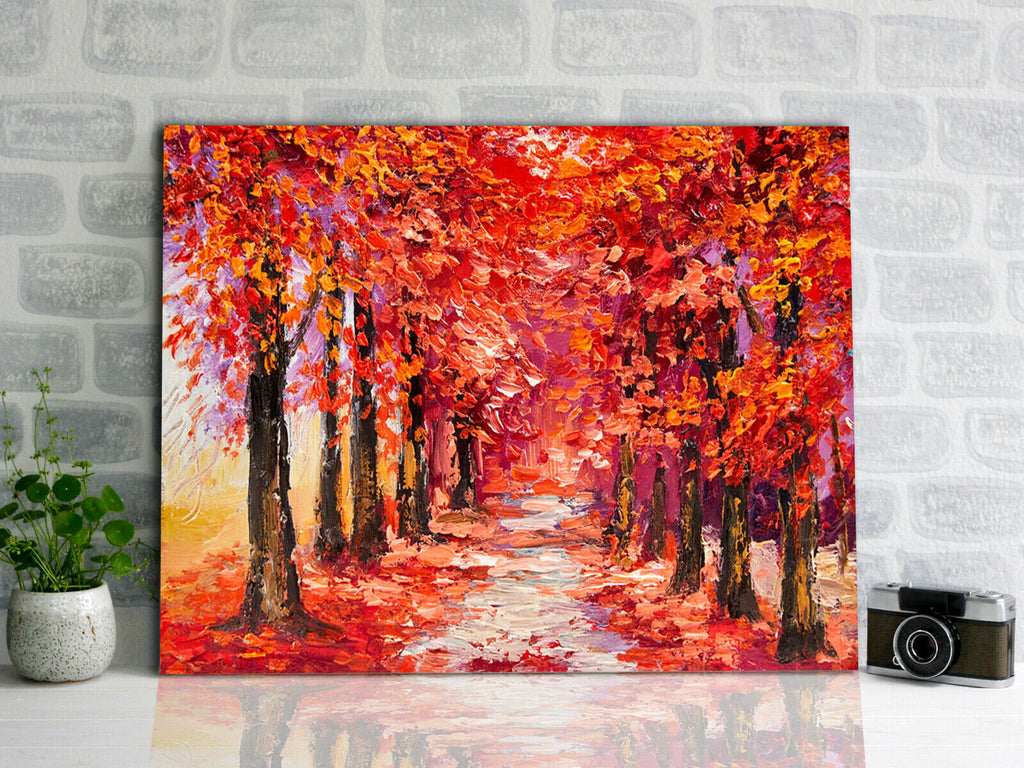 Trees impressionism art  Canvas Wall Art Picture Print