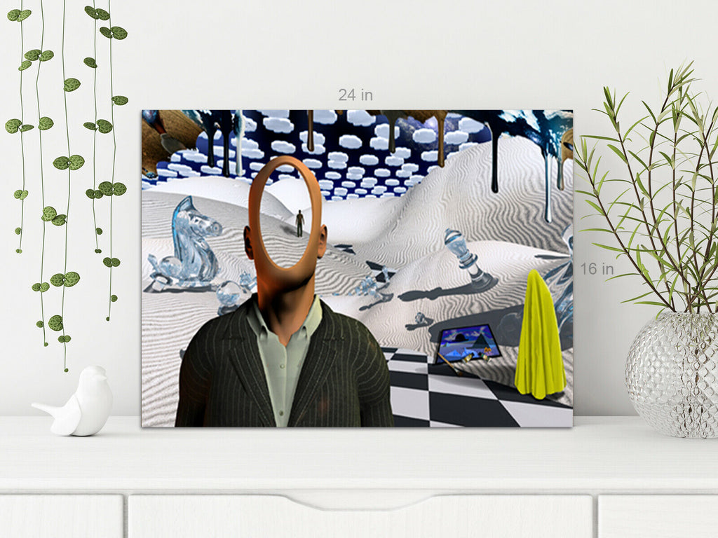Dali Style Surreal Art  Canvas Wall Art Picture Print