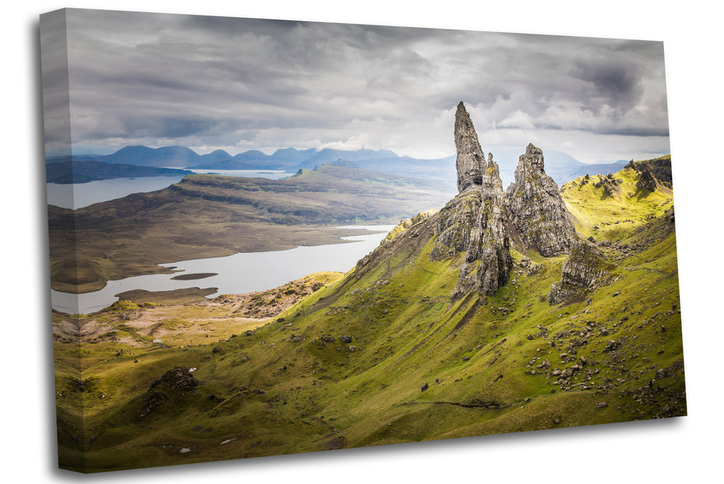 The Old Man of Storr Scotland Canvas Wall Art Picture Print