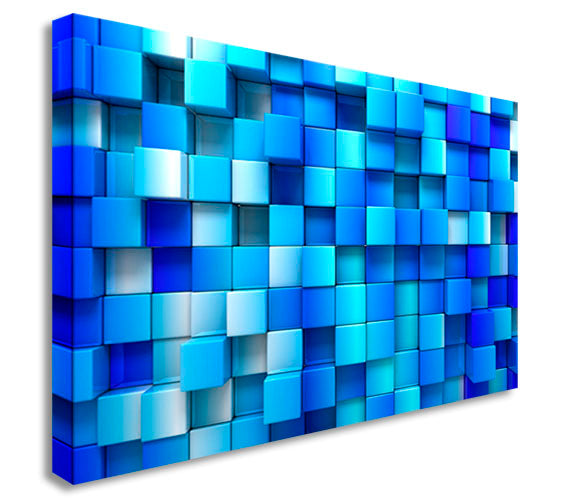 Abstract Blue Squares 3D