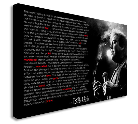 Bill Hicks Iconic Quote Music  Canvas Wall Art Picture Print
