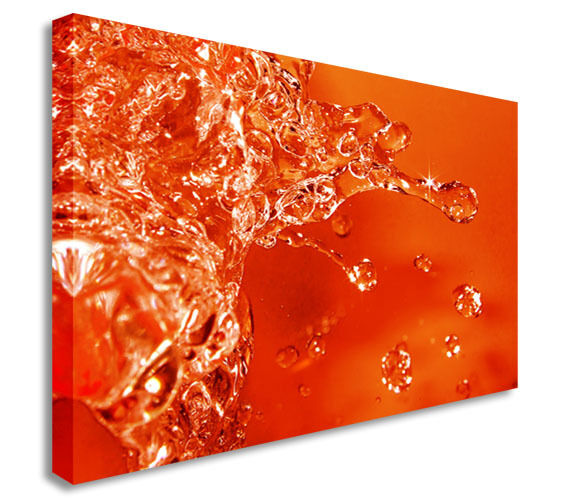 Abstract Art Canvas Orange Splash  Canvas Wall Art Picture Print