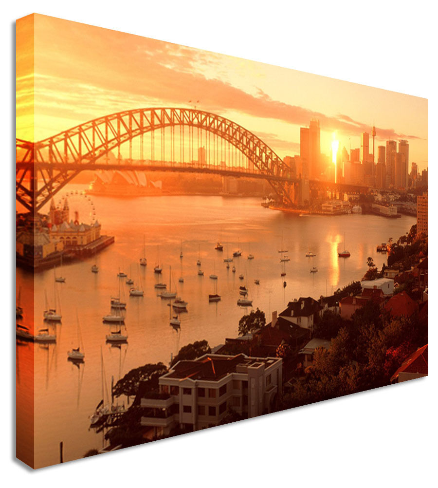 Sydney Harbour Sunrise  Canvas Wall Art Picture Print