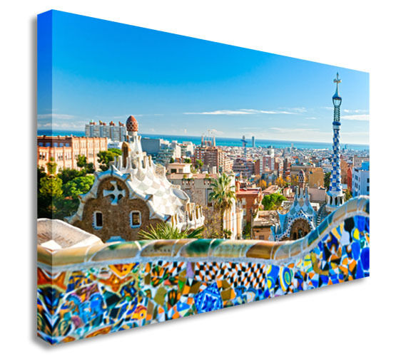 Park Guell in Barcelona Canvas Wall Art Picture Print