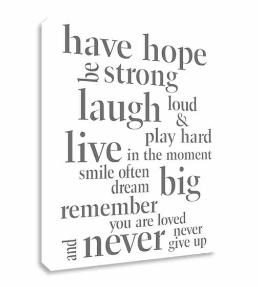 Have Hope Inspirational Quote  Canvas Wall Art Picture Print
