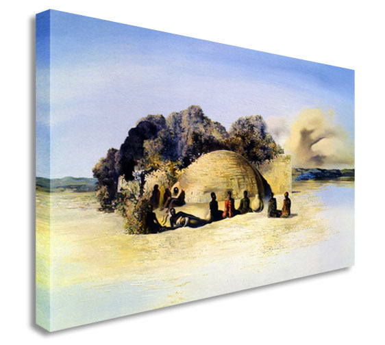 Salvador Dali - Paranoic Visage Canvas Wall Art Picture Print
