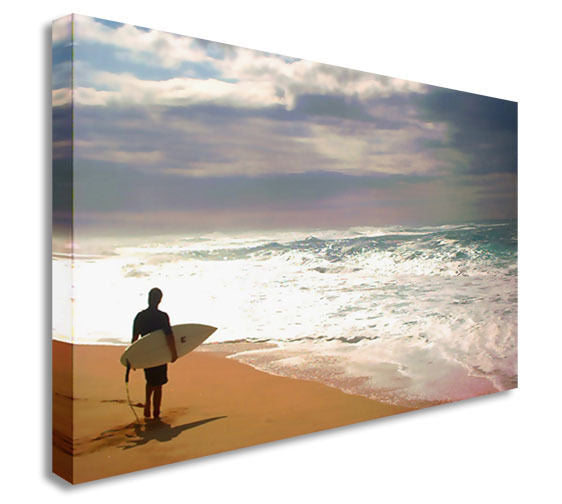 Surf Sea Cloud Sky Canvas Wall Art Picture Print