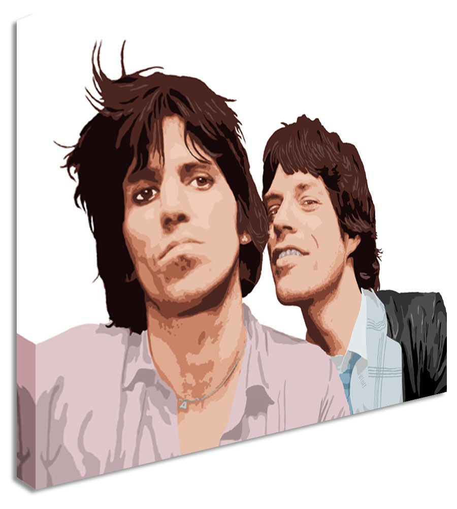 Mick Jagger and Keith Richards / Rolling Stones Canvas Wall Art Picture Print