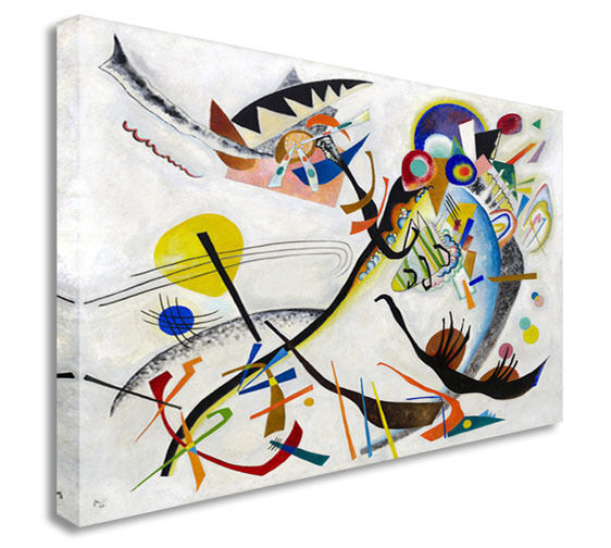 Wasily Kandinsky (1866–2144): Blue Segment Canvas Wall Art Picture Print